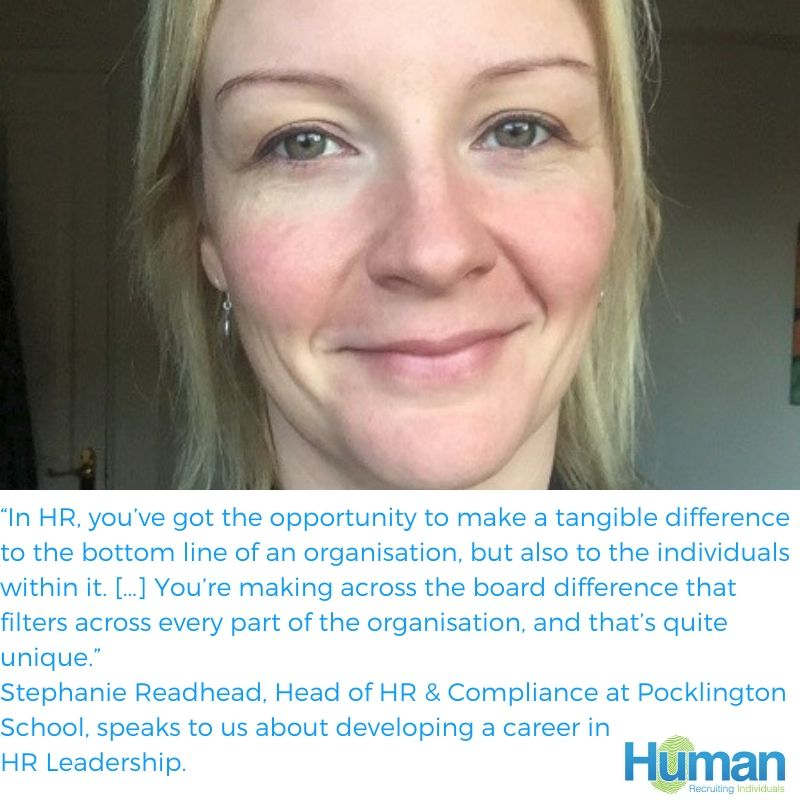 On HR in Schools: Interview With Stephanie Readhead, Head of HR & Compliance at Pocklington School